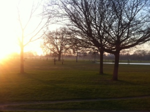 Clapham Common in the evening by James Pendleton