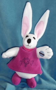 'Rose' the bunny, winner of the James Pendleton Easter Bunny Drawing competition 2012