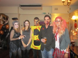 Some of the costumes on show at the LivetoGive Halloween Ball