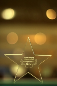 James Pendleton Estate Agents' Trinity Star Award for Best Partnership with a Local Business at the 2012 Trinity Star Ball